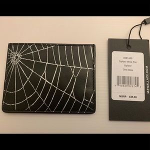 MZ Wallace Spider Web Pattern Card Case- NWT